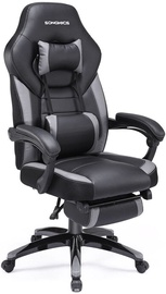 Songmics Leather Office Chair 55x69x124cm Black