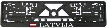 """AutoDuals Car Numberplate Holder """"LATVIJA"""" Black"""