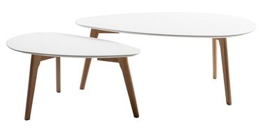 Kohvilaud Home4you Helena White/Oak, 1000x500x400 mm