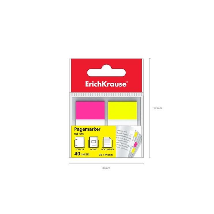 ErichKrause Page Marker 2x20pcs Pink&Yellow