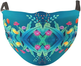 TakeMe Antibacterial 2-Layer Washable Slim Fit Face Mask Turquoise