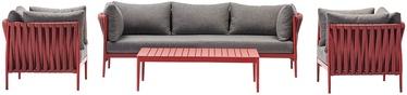 Bremen Garden Furniture Set Gray/Red