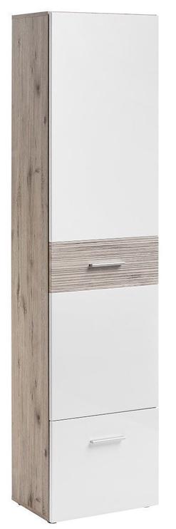 ASM Gustavo V Hallway Wall Unit Set Gloss White/Wellington Oak