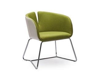 Fotelis Pivot, žalias/baltas