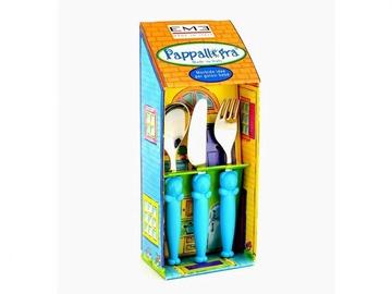 Vaikiškas stalo įrankių komplektas Eme Pappallegra blue, 3 vnt