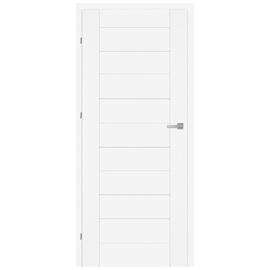 Vidaus durų varčia Lora M1, balta, kairinė, 203.5x64.4 cm