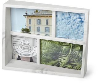 Umbra Edge Marble Multi Photo Frame White