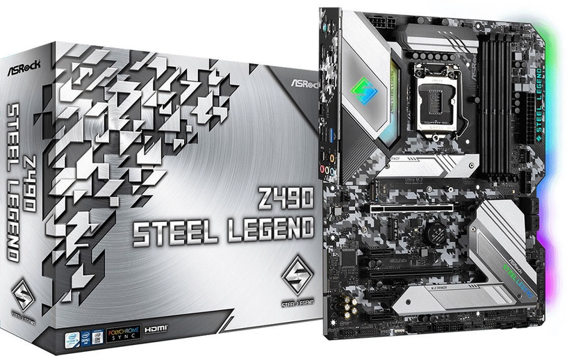 Mātesplate ASRock ASRock Z490 Steel Legend