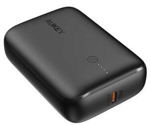 Uzlādēšanas ierīce – akumulators Aukey, 10000 mAh, melna
