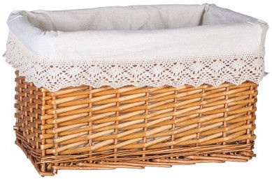 Home4you Basket Max 4 40x26xH24cm Lace