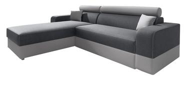 Stūra dīvāns Idzczak Meble Infinity Lux Grey/Light Grey, kreisais, 184 x 184 x 95 cm