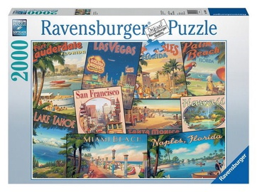 Ravensburger Puzzle Vintage Vacations 2000pcs