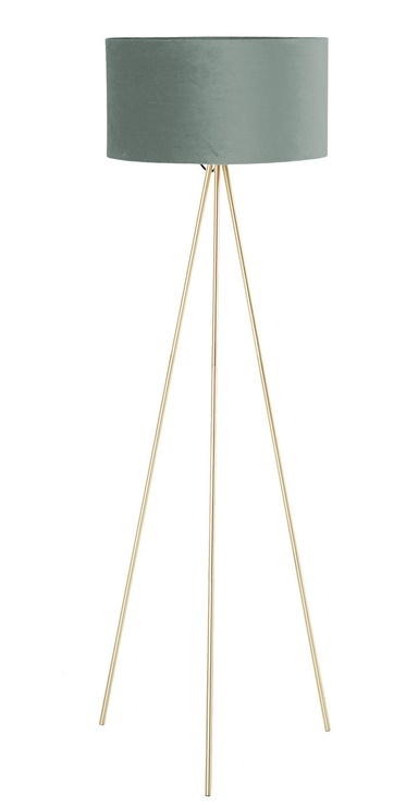 Home4you Trinity Floor Lamp E27 40W Green/Gold