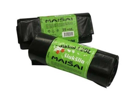 Atkritumu maisi Plasta 8927900, 120 l, 10 gab.