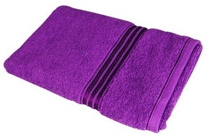 Verners Frotee Wick Pattern 70x140cm Violet