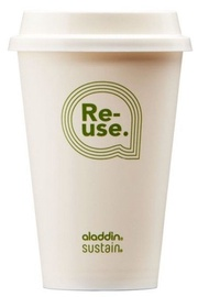Joogiklaas Aladdin Re-Use Sustain Cup & Lid 0.35L White 4pcs