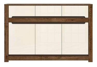 Black Red White Ruso Chest Of Drawers 45x149x98.5cm White Brown