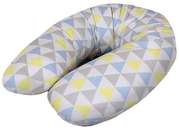 Ceba Baby Maternity Physio Pillow Multi Triangle Blue/Yellow Jersey