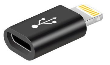 Mocco Micro USB To Lightning Adapter Black