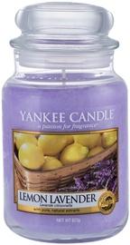 Aromātiskā svece Yankee Candle Classic Large Jar Lemon Lavander, 623 g, 110 h