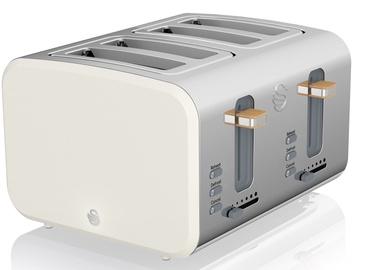 Skrudintuvas Swan 4 Slice Nordic Style Toaster ST14620WHTN White