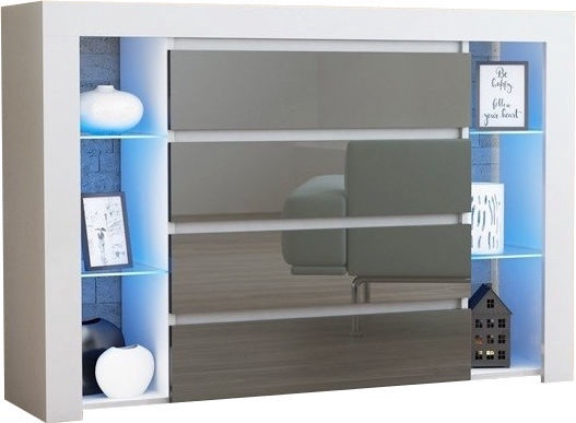 Kumode Pro Meble Milano 4SZ With Light White/Grey