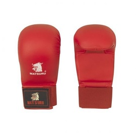 Боксерские перчатки Matsuru Karate, красный, L