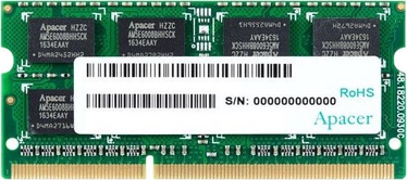 Apacer 4GB 1600MHz CL11 DDR3 SODIMM DS.04G2K.HAM