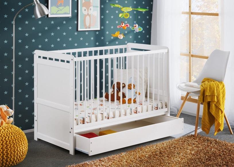 ASM Tymek Plus Baby Cot White