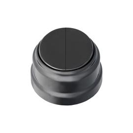 Jungiklis OKKO Retro A5 10-2202, 2 klavišų, juodas
