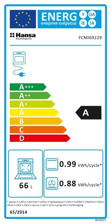 Gaasipliit elektriahjuga Hansa FCMI69229