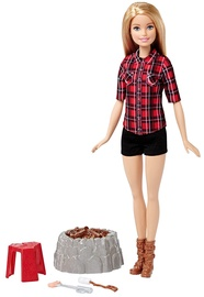 Mattel Barbie Camping Fun Doll With Light-Up Campfires FDB44