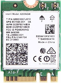 Intel Dual Band WLAN-AC 8265 M.2