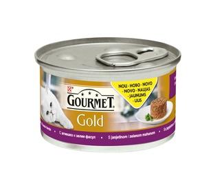 Konservuotas ėdalas suaugusioms katėms Gourmet, su ėriena, 85 gr