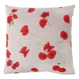 Home4You Holly Pillow 45x45cm Beige/Red