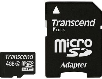 Transcend 4GB Micro SDHC Class 10 + Adapter