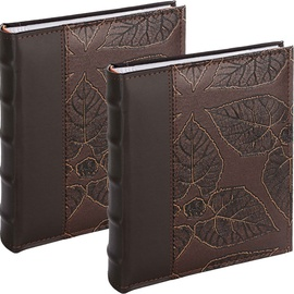 Victoria Collection Album B 10x15/200 Leaf Brown 2pcs