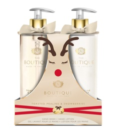 The English Bathing Company Boutique Toasted Praline & Snowberries 500ml Hand Wash + 500ml Hand Lotion