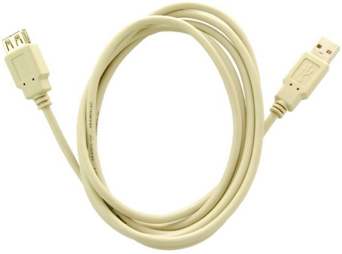 Qoltec Cable USB to USB White 3m