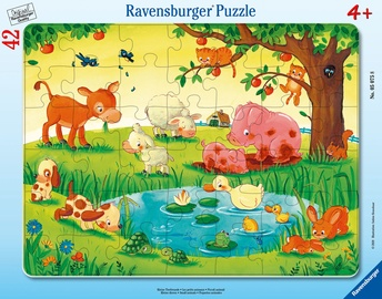Puzle Ravensburger Frame Small Animals 050758, 42 gab.