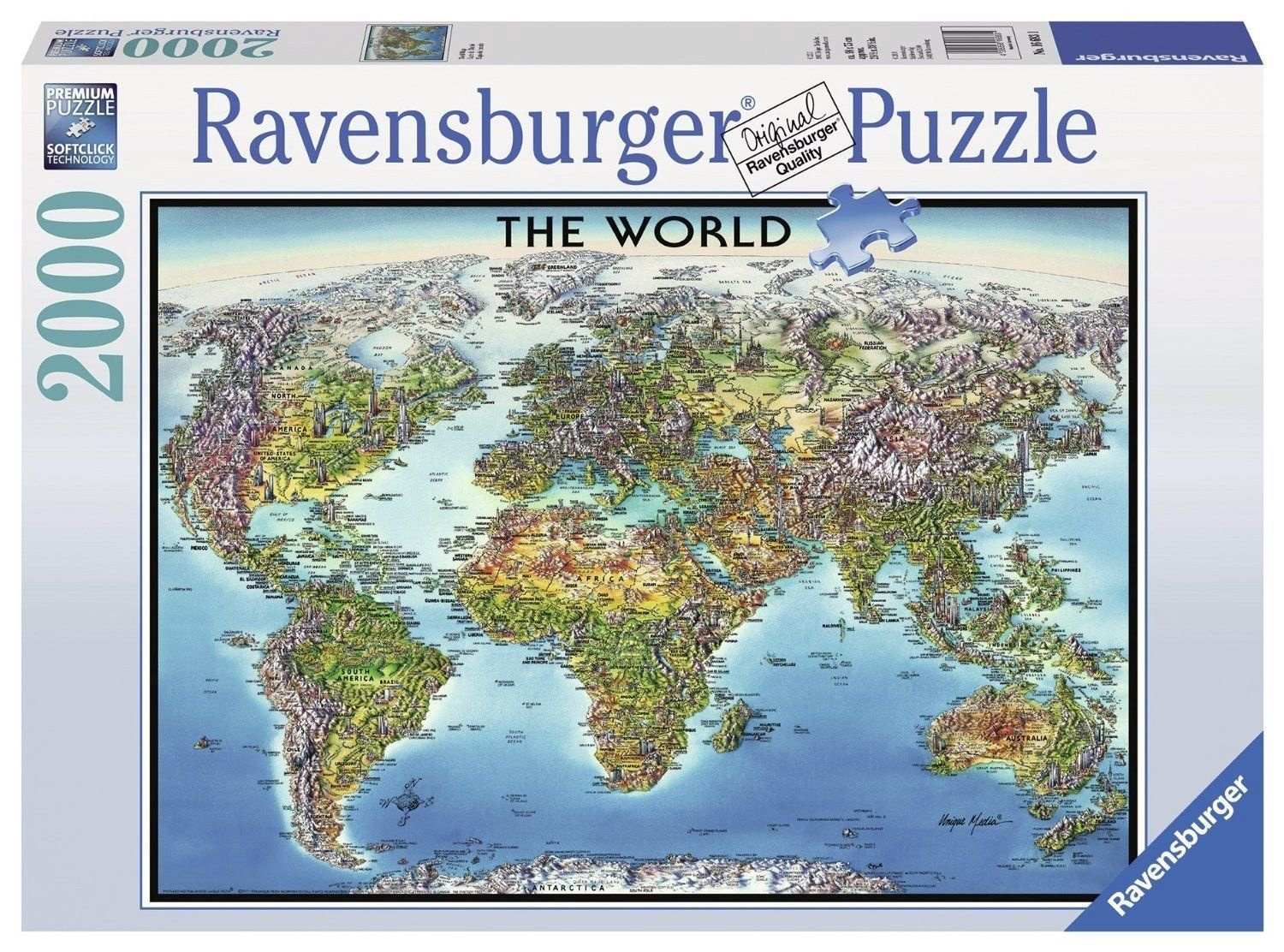 A Picture Of The World Map.Ravensburger Puzzle World Map 2000pcs