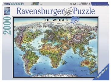 Dėlionė Ravensburger World Map, 2000 dalių