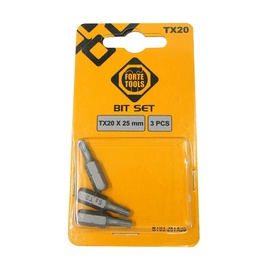 Forte Tools Screwdriver Bit Set TX20 25mm 3pcs