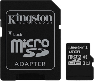 Kingston Canvas Select microSDHC 16GB UHS-I Class 10 + SD Adapter