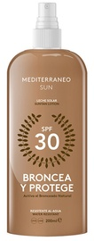 Mediterraneo Sun Bronzing & Protection Suntan Lotion SPF30 200ml