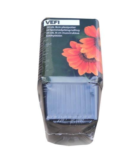 Istutuspott Vefi, 8 cm, 24tk