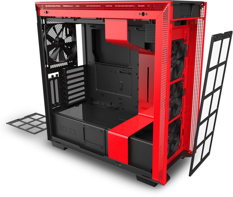 NZXT H710i E-ATX Mid-Tower Black/Red