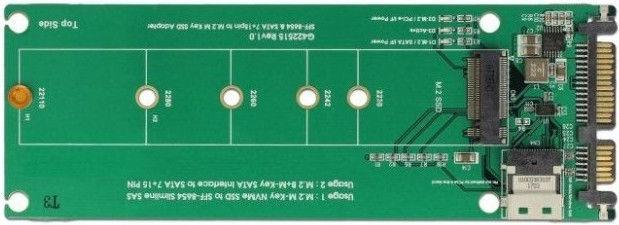 Delock U.2 SFF-8654 or SATA to 1 x M.2 Key M Slot
