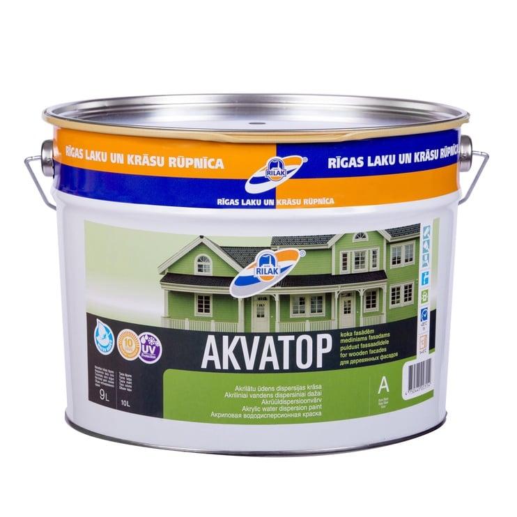 Krāsa fasādēm Rilak Akvatop A, 9 l