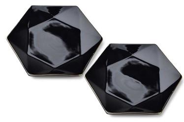 Mondex Ralph Dessert Plates Black 2pcs